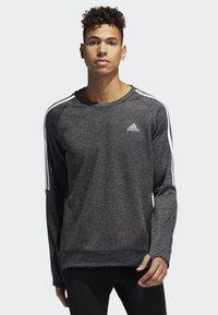 adidas Performance - OWN THE RUN 3-STRIPES CREW SWEATSHIRT - Fleece jumper - grey - 0