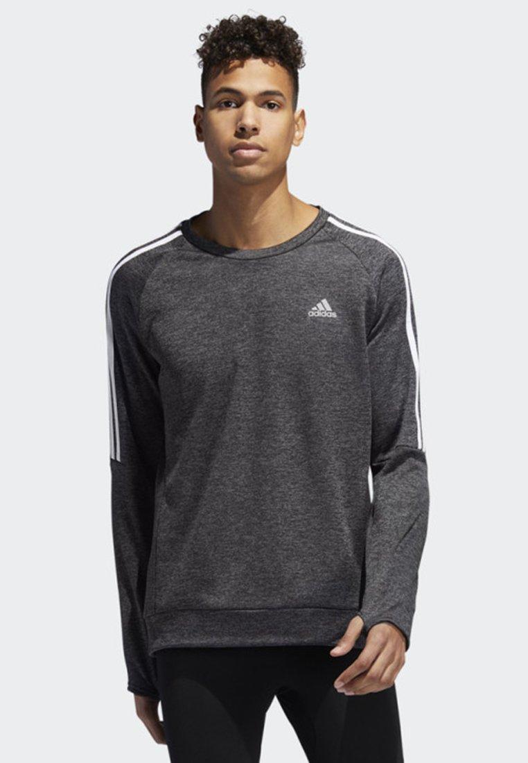 adidas Performance - OWN THE RUN 3-STRIPES CREW SWEATSHIRT - Fleece jumper - grey