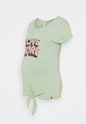 KNOT LOVE MORE - T-shirt imprimé - mint