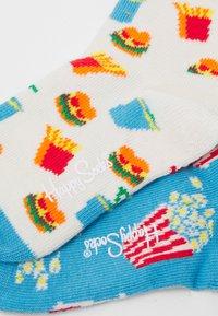 Happy Socks - KIDS POPCORN HAMBURGER SOCK UNISEX - Ponožky - multicolor - 1