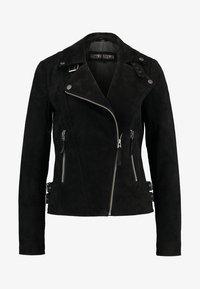 TAXI DRIVER - Kožená bunda - black