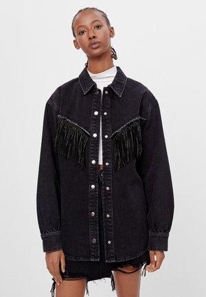 HEMDJACKE FRANSEN - Button-down blouse - black