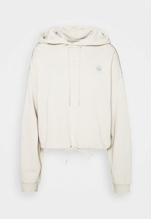 OVERSIZED CROPPED HOODED LONG SLEEVE - Jersey con capucha - whitebait