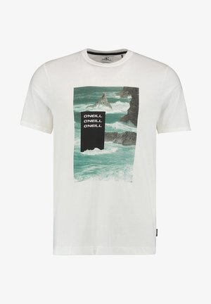 CALI OCEAN - Print T-shirt - powder white