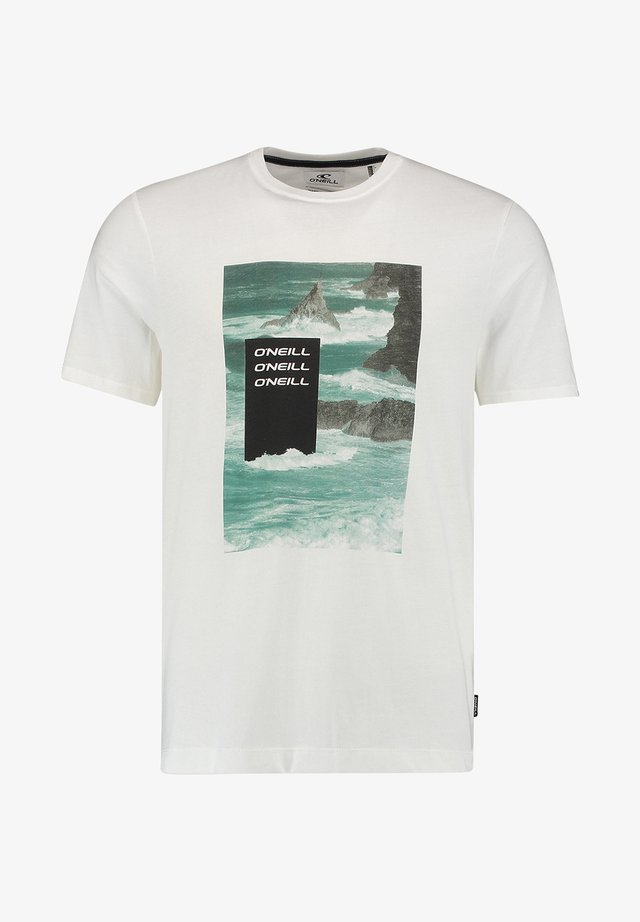 CALI OCEAN - T-Shirt print - powder white