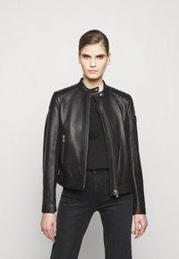 Belstaff - NEW MOLLISON JACKET - Veste en cuir - black - 0