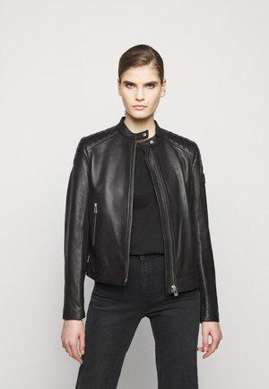 NEW MOLLISON JACKET - Kožená bunda - black
