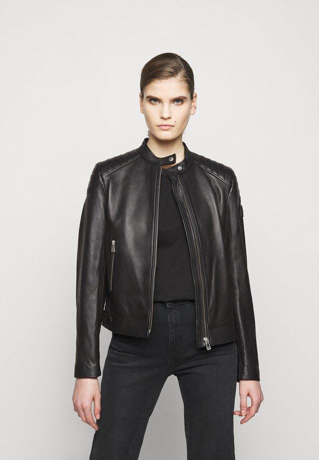 NEW MOLLISON JACKET - Veste en cuir - black