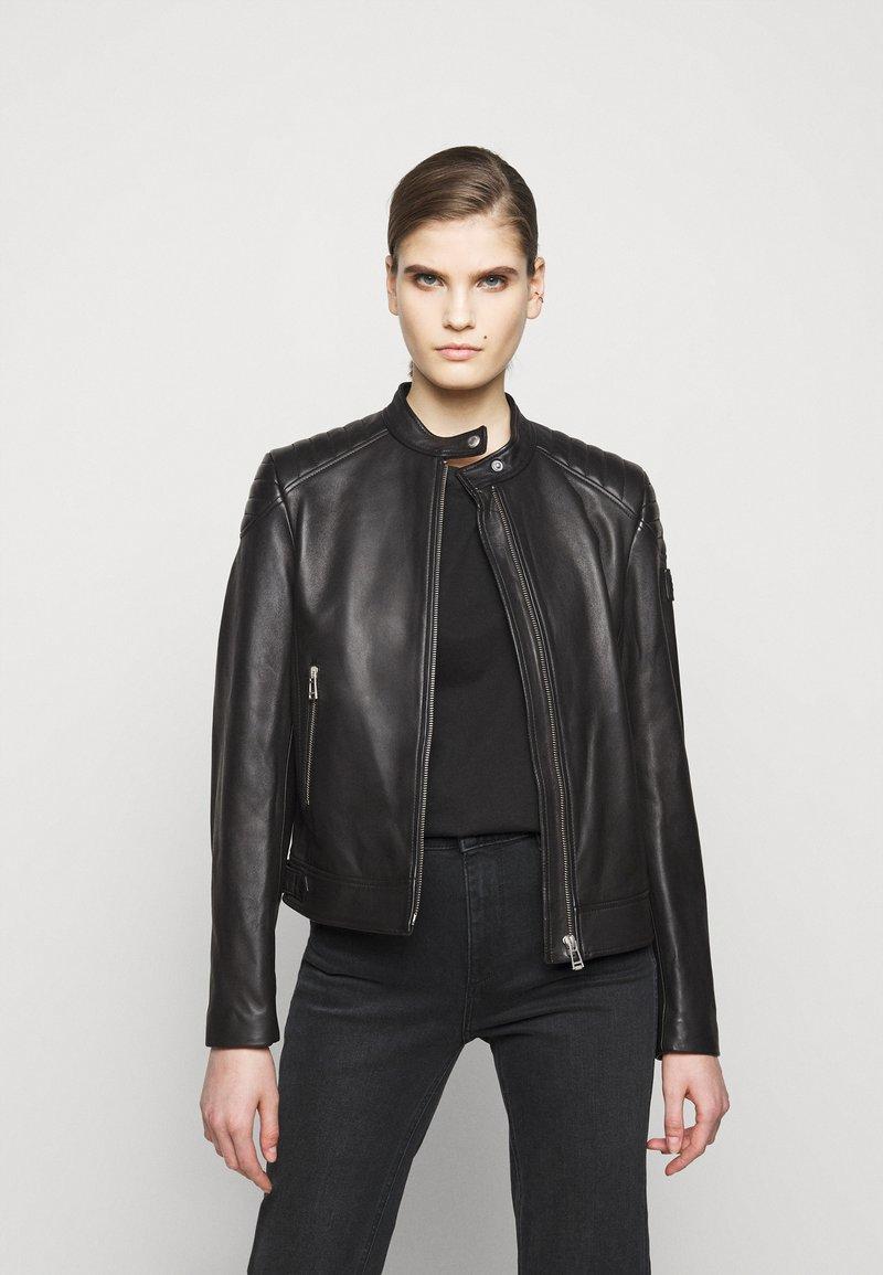 Belstaff - NEW MOLLISON JACKET - Veste en cuir - black
