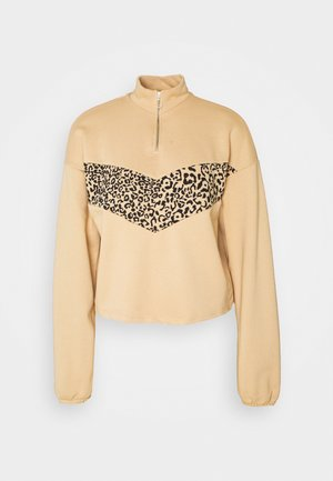NMHALLY COLOR BLOCK - Sweatshirt - beige