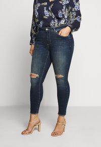 ONLY Carmakoma - CARWILLY - Jeans Skinny Fit - dark blue denim - 0