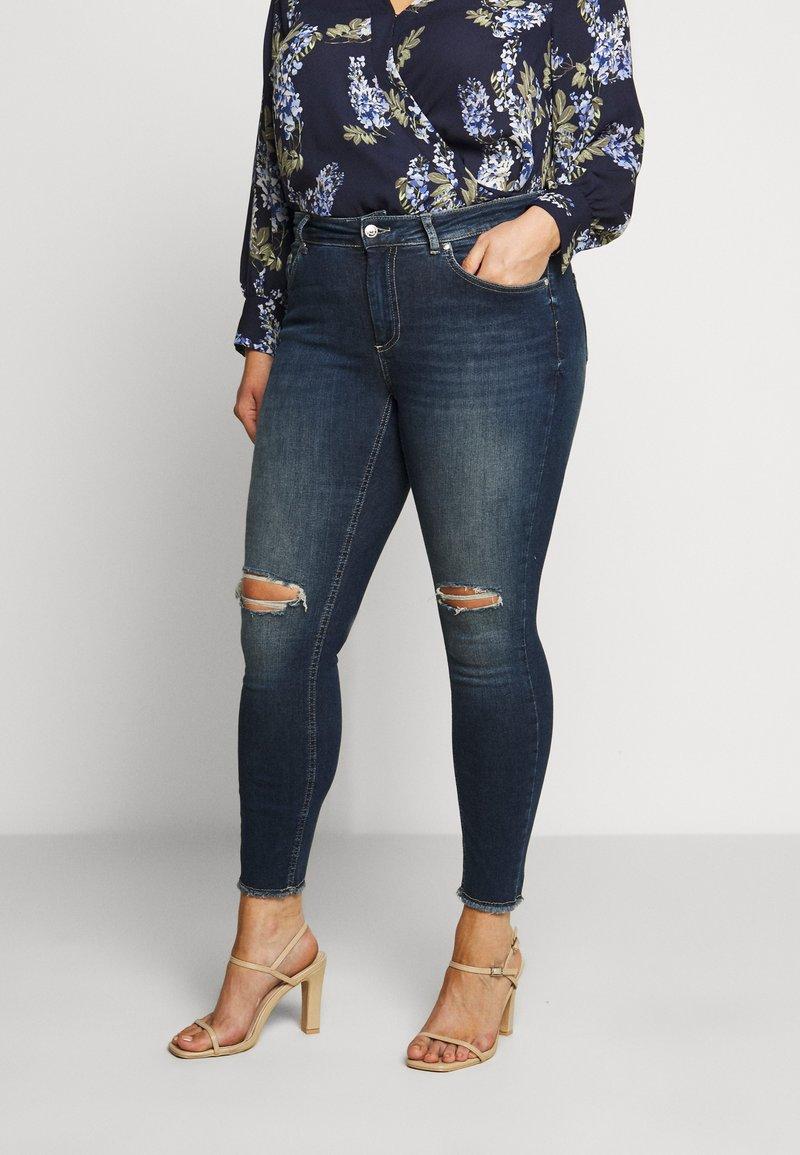 ONLY Carmakoma - CARWILLY - Jeans Skinny Fit - dark blue denim