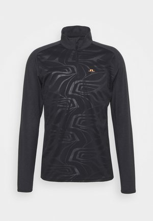 HENRY GOLF MID LAYER - Top s dlouhým rukávem - black melange