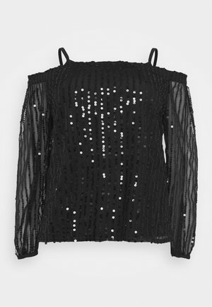 SEQUIN BARDOT - Blouse - black