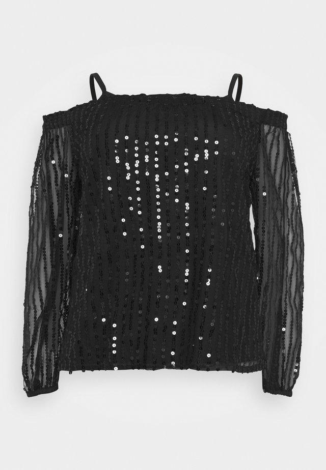 SEQUIN BARDOT - Blouse - black