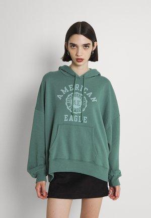 HIGH LOW HOODIE - Sweatshirt - green