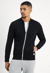 TOM TAILOR DENIM - JACKET - Zip-up hoodie - black - 0