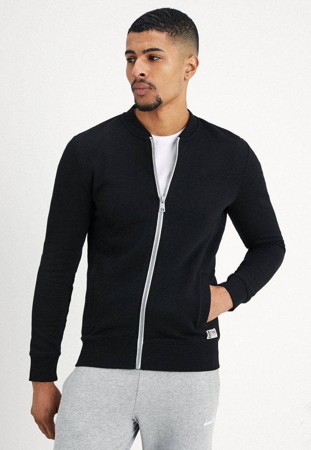 JACKET - Mikina na zip - black