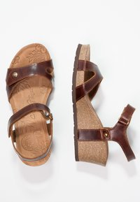 Panama Jack - JULIA CLAY - Sandalias con plataforma - dark brown - 3
