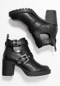 ONLY SHOES - ONLBARBARA DOUBLE STRAP HEELED - Ankle boot - black - 3