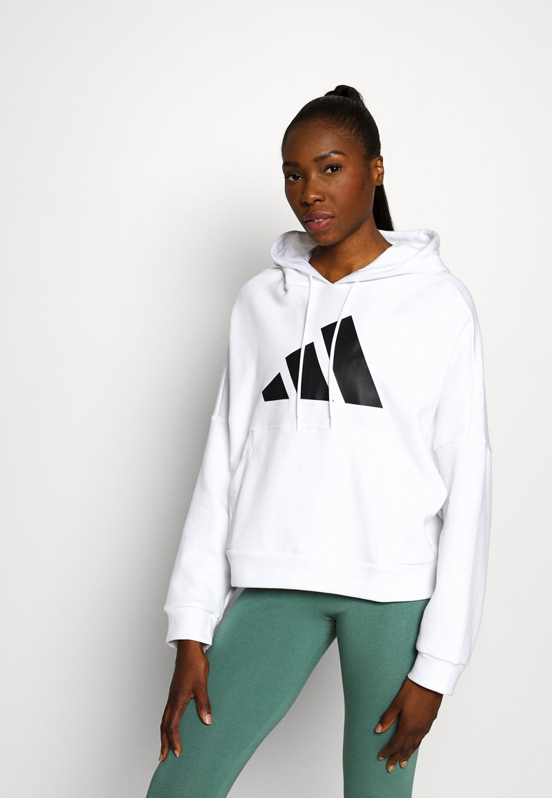 adidas Performance - HOODIE - Jersey con capucha - white