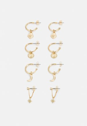PCDECI EARRINGS 4 PACK - Náušnice - gold-coloured