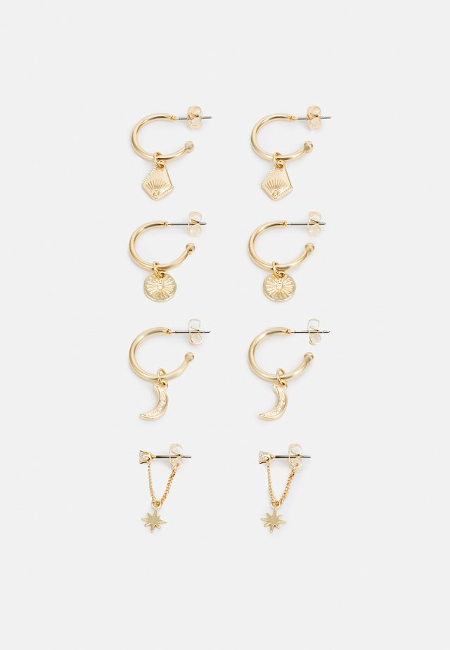 PCDECI EARRINGS 4 PACK - Örhänge - gold-coloured