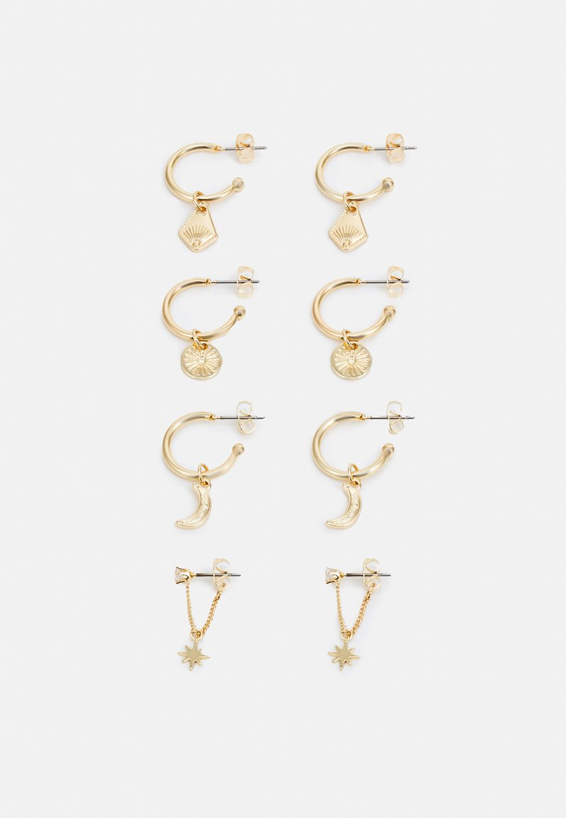 Pieces - PCDECI EARRINGS 4 PACK - Earrings - gold-coloured