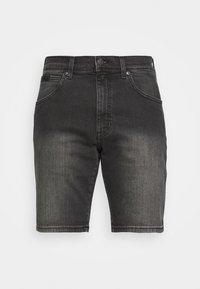 TEXAS - Denim shorts - black denim