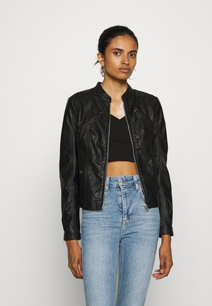 VMFAVODONA - Faux leather jacket - black