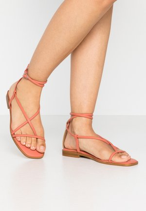 SHELA - T-bar sandals - orange/apricot brandy