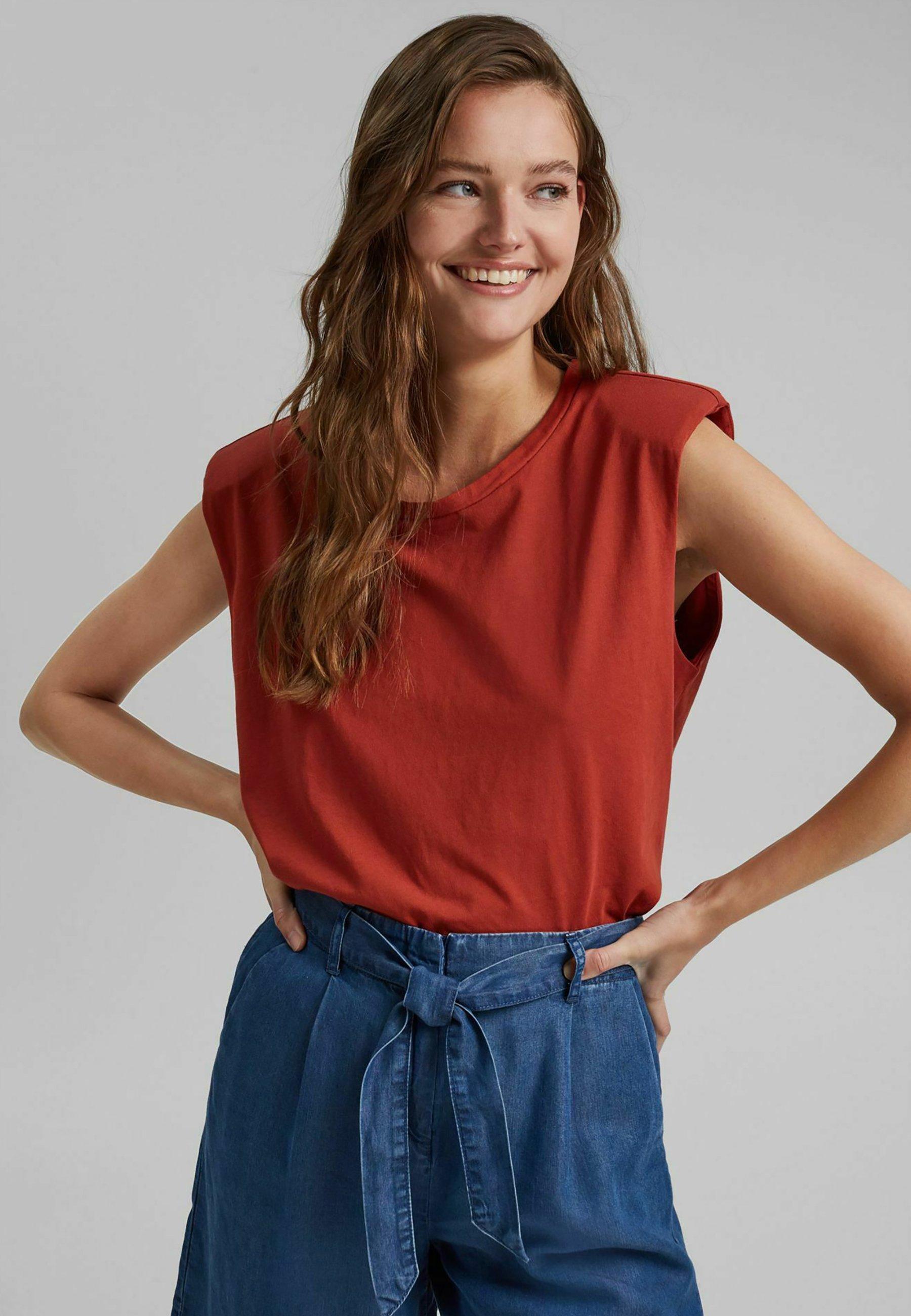 Damen PADDED TEE - T-Shirt basic