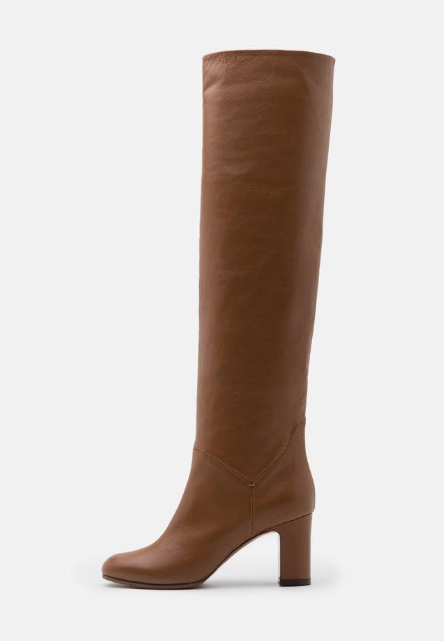 NO ZIP - Overknee laarzen - camel