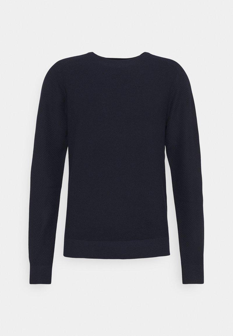 Jack & Jones PREMIUM - JPRBRAT CREW NECK - Stickad tröja - maritime blue
