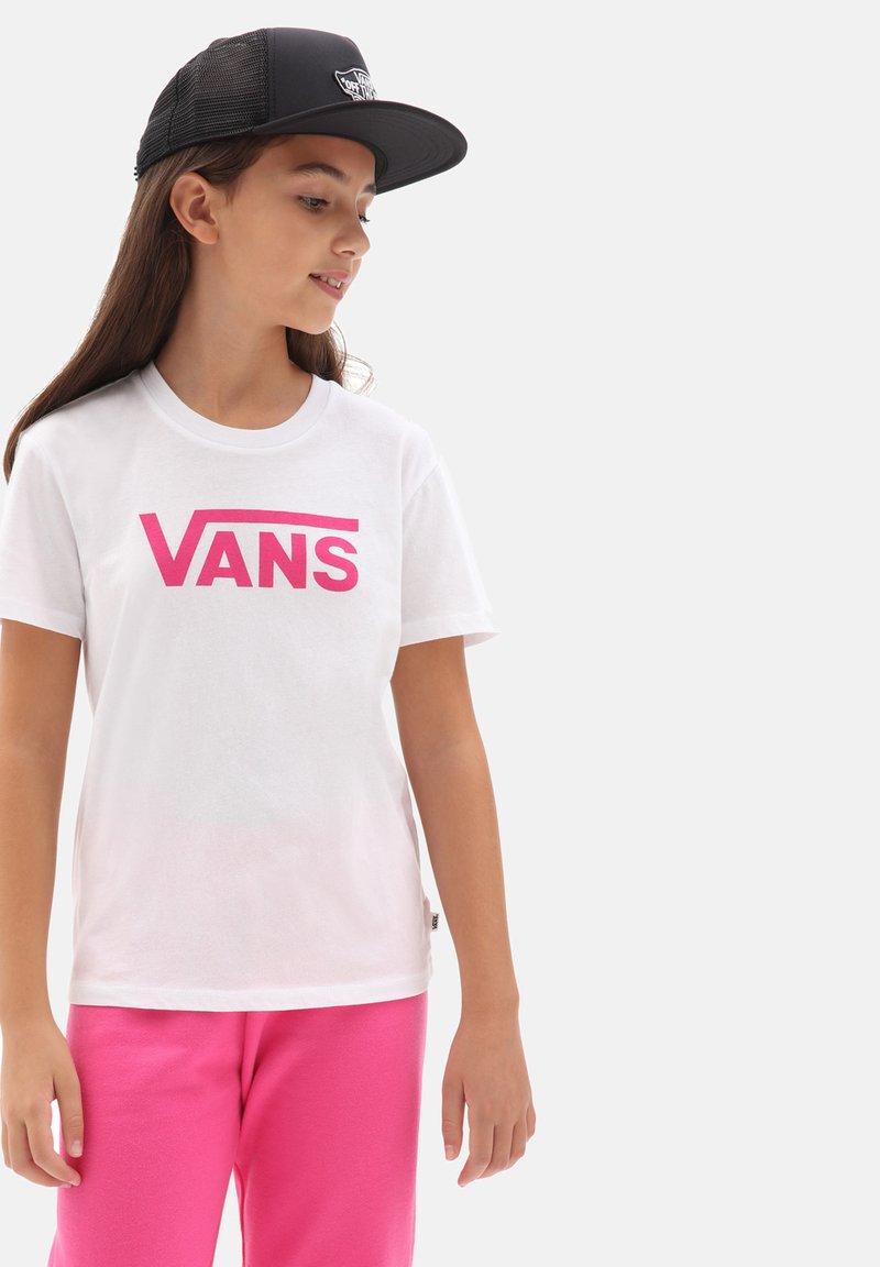 Vans - GR FLYING V CREW - Print T-shirt - white