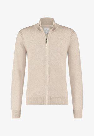 Sweater met rits - sand plain