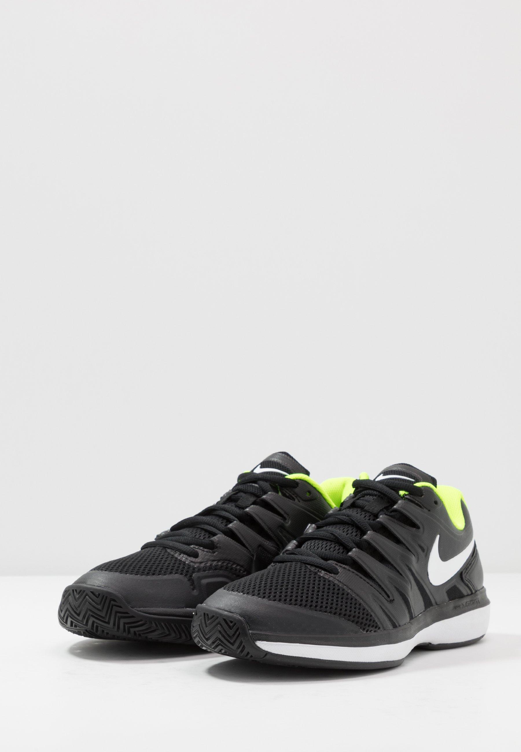 Particolare Scarpe da uomo Nike Performance AIR ZOOM PRESTIGE Scarpe da tennis per tutte le superfici black/white/volt