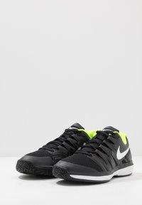 Nike Performance - Multicourt tennis shoes - black/white/volt - 2