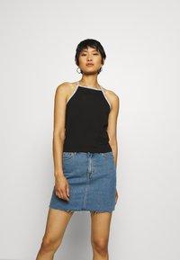Calvin Klein Jeans - LOGO TRIM TANK - Top - black - 0