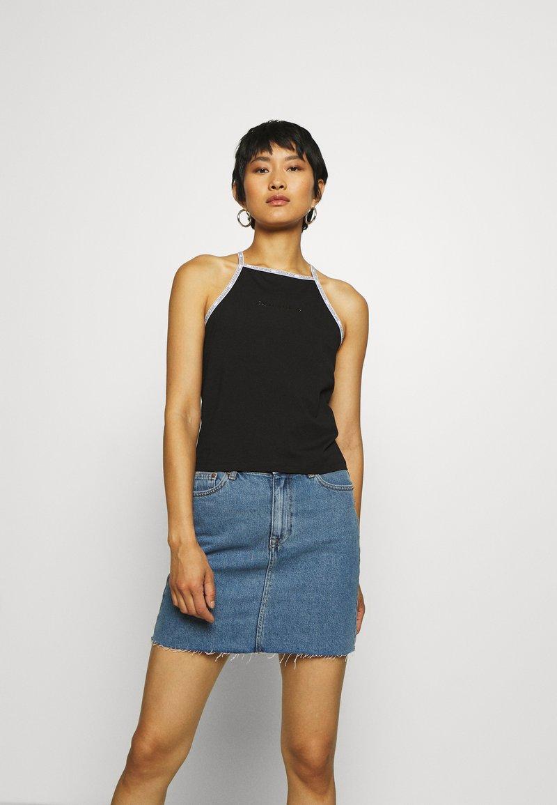 Calvin Klein Jeans - LOGO TRIM TANK - Top - black