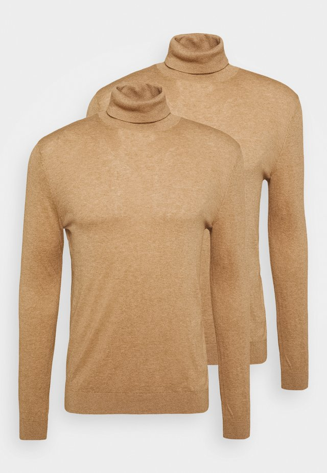 ROLL 2 PACK - Pullover - camel