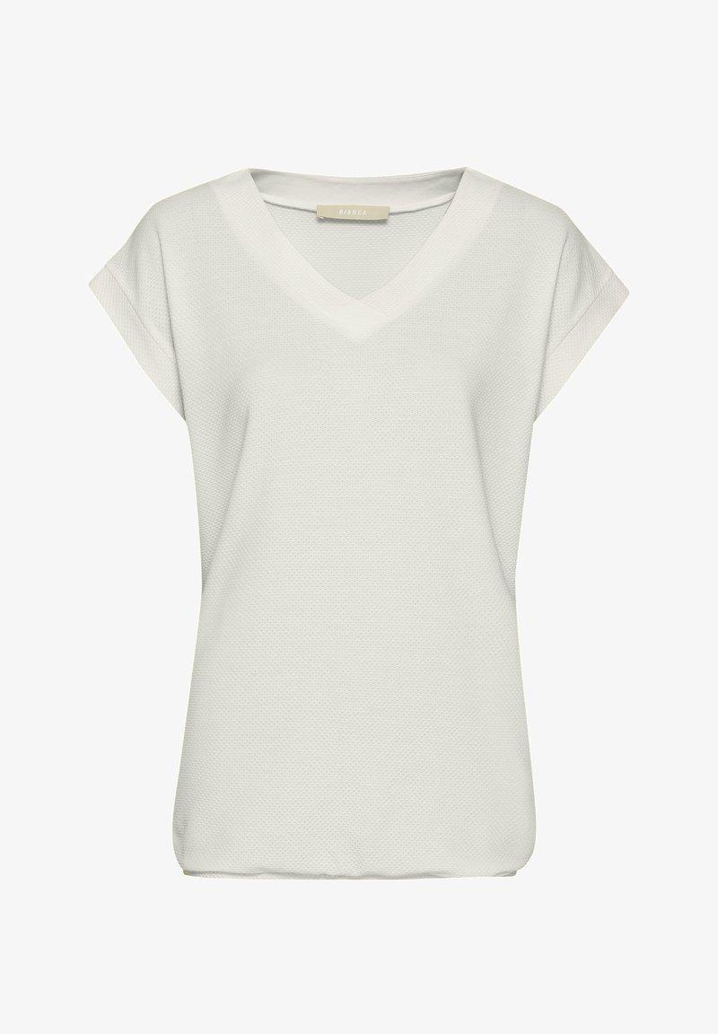 bianca - JULIE - Basic T-shirt - ivory