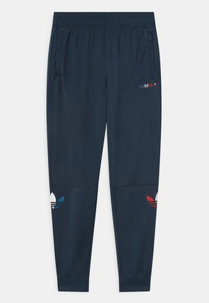 TRI COLOUR TRACKPANT UNISEX - Tracksuit bottoms - crew navy