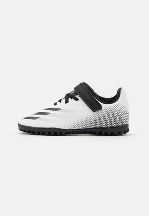 X GHOSTED.4 FOOTBALL BOOTS TURF UNISEX - Astro turf trainers - footwear white/core black/silver metallic