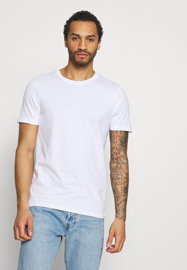 Jack & Jones JJEORGANIC TEE O NECK 5 PACK - T-shirt basic - black, white/biały Odzież Męska NSPO