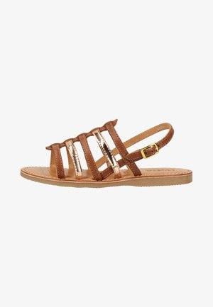 Walking sandals - cognac