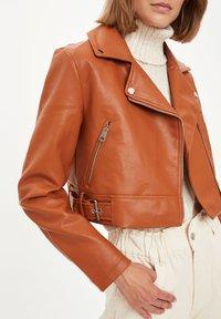 DeFacto - Faux leather jacket - brown - 3