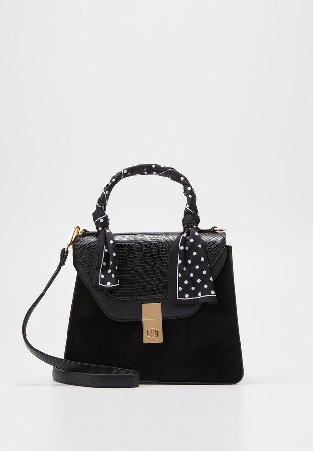 SADIE SCARF DETAIL CHAIN SATCHEL - Handbag - black
