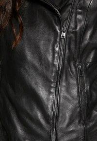 Oakwood - PARTY - Kožená bunda - black - 5