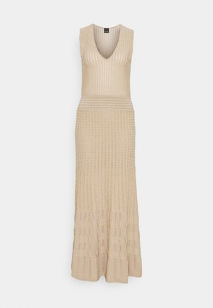 CRONOMETRO ABITO LUREX - Jumper dress - beige